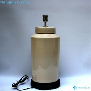 DS74-RYNQ Hot new retail oat color glaze ceramic round tin lamp