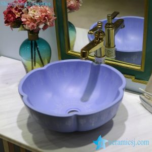 LT-1607-11 Graceful purple matte glazed ceramic decorative sink