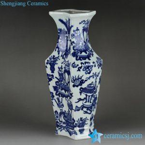 RYTM57 New design the eight treasures pattern blue and white ceramic flower vase