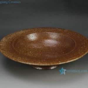 RZFZ-B-11 hand made crude pottery fruit disk