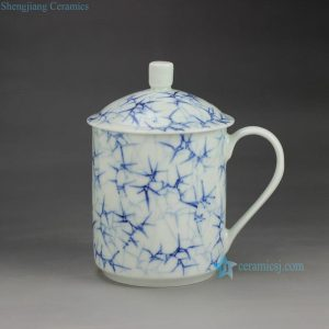 RZGD01 Hand paint bamboo pattern ceramic tea mug