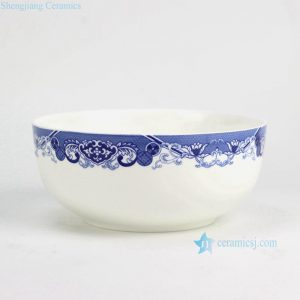 RZGF01 Bone china blue and white big ceramic soup bowl