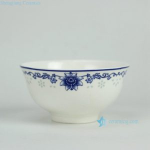RZGF03 Elegant blue and white floral mark porcelain tableware