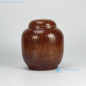 RZGV01 Dark reddish brown glaze oriental furnishing ceramic jar