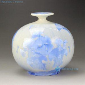 RZGW01-C Flambe photochromic crystaline glaze glacier style ceramic flower vase