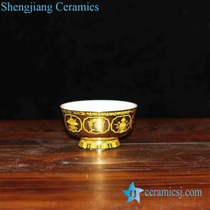 RZHU02-A High heel golden eight treasure mark ceramic bowl online