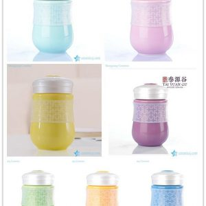 RZHW01-A-F Rainbow 7 color portable ceramic leak-proof hermatically sealed thermos