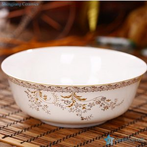 "RZHY01-B 6"" top grade bone china golden pattern ceramic microwave ceramic bowl"