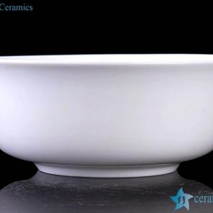 "RZHY01-E 6"" pure white bone china big ceramic rice bowl"