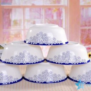 RZHY01-I blue and white love sea wave mark fine bone china ceramic table sets
