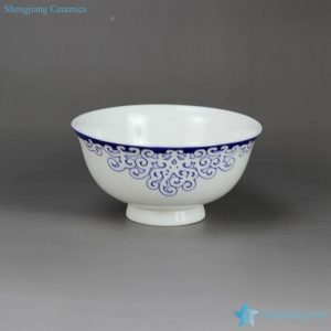 RZHY02-G Aegean Sea weave mark blue and white scald preventing top grade bone china rice bowl