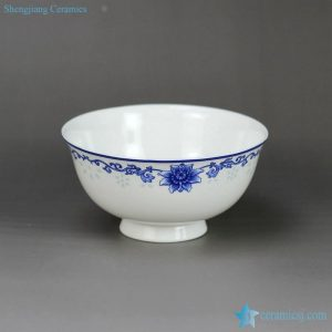 "RZHY02-J 4.5"" fine bone china blue and white ceramic ceramic kids bowl"