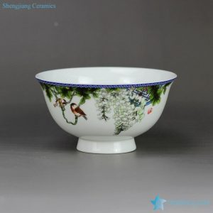 RZHY02-K Colored bird flower mark Jingdezhen first class bone china table ware