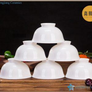 RZHY02-P Pure white bone china bowl ceramic