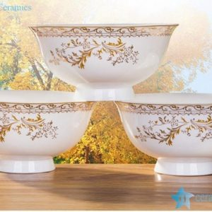 RZHY02-Q Golden autumn mark bone china porcelain bowls