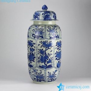 RZIG01 Delicate valuable hand paint floral pattern large porcelain ginger jar