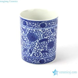RYCI35 Hand paint blue and white ceramic pen holder in cheap internet price