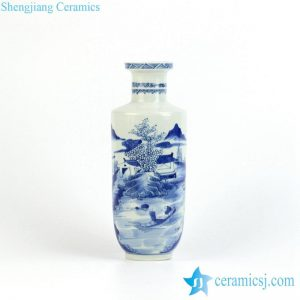 RYXN17 Hand painted river Chinese farmhouse pattern charming crockery vase