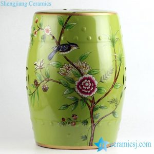 RYYL08 Bird floral pattern new arrival ceramic patio stool
