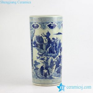RZFH04-B The Eight Immortals pattern hand paint reproduction porcelain umbrella stand
