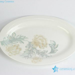 RZHY04-A Fine bone china moon light floral pattern butter cheese dish