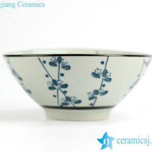 RZIO01-A Japan style sakura flower pattern ceramic dinner bowl