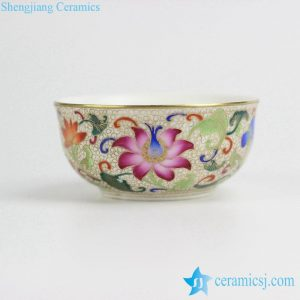 RZIT01-C      Hand made golden line lotus pattern cloisonné enamel tea cup