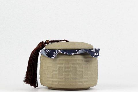 RZIV01 Stoneware material sealed unique pottery tea jar
