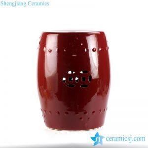 RYKB111-E Jingdezhen China original sangoria color porcelain drum stool