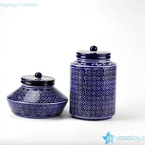 RYPU41 Wedding fair decoration strong blue and white storage bottle&jars