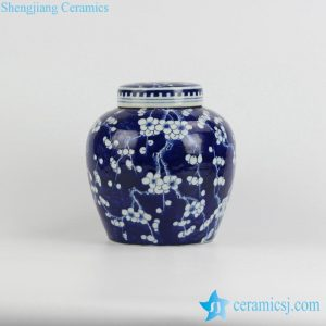 RYQQ53-D Best export blue and white hand paint fantastic winter sweet pattern collection ceramic urn