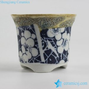 RYYF32-a/b/c/d/e/f/g/h/i/j/k/l/m transitional glaze mini ceramic flower pots