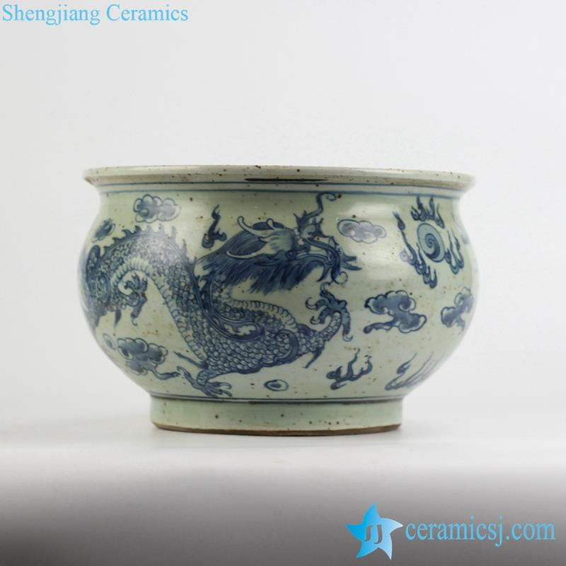 Ryzk12 Crude Clay Reproduction Style Chinese Traditonal Royal Fire