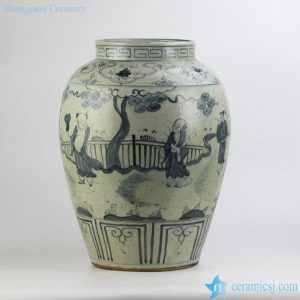 RZFB06 old imitation hand paint ancient folk pattern collection ceramic bottle