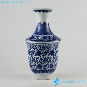 RZFU04 Floral blue and white floral ceramic vase for online sale