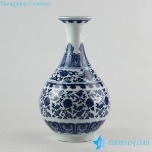 RZFU06 blue and white okho spring jar floral vase