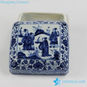 RZHL05-C Vintage style ceramic storage box for collection