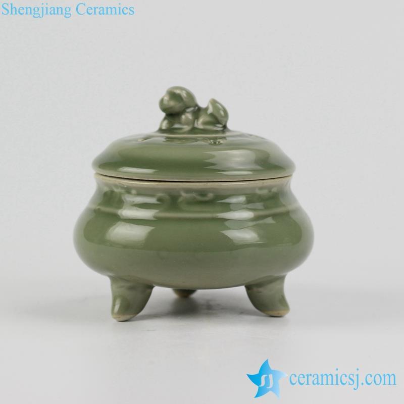 dark green glaze ceramic censer thurible