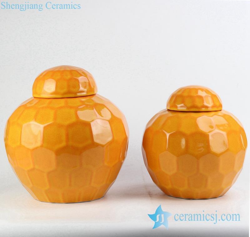 small ceramic mason jar