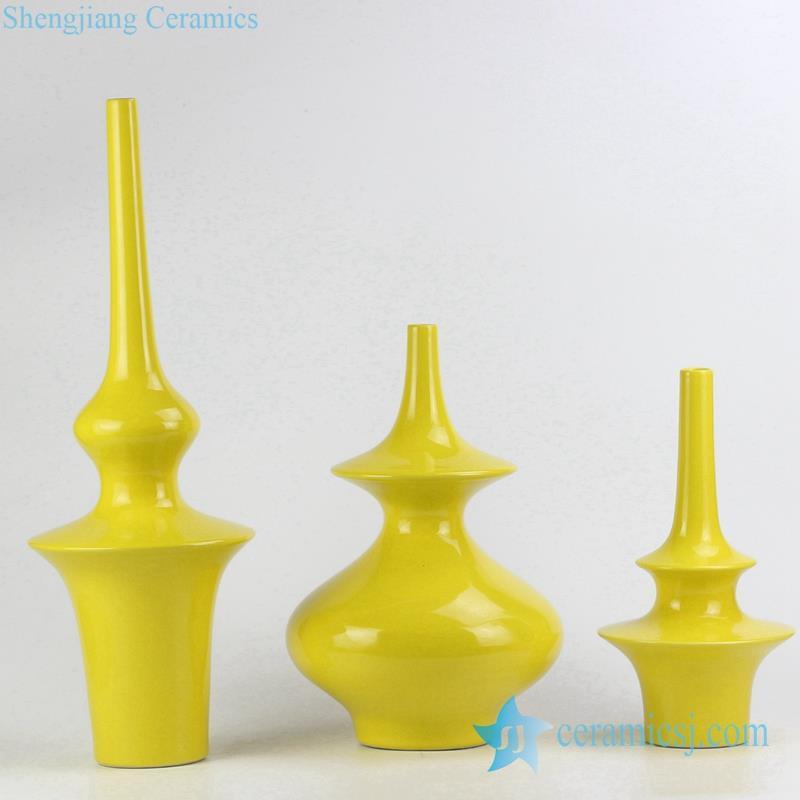 unique design special three set ceramic vase