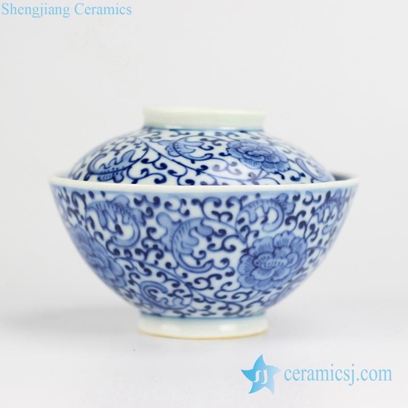 floral pattern ceramic bowl