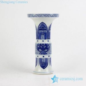 RYXN20 Wide open brim trumpet shape Russian style ceramic vase
