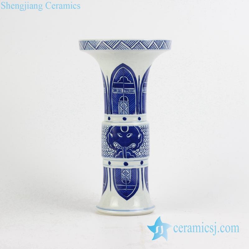 trumpet shape hand paint oriental vase