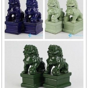 RYXP21-B/O/P Plain color Chinese style ceramic lion statue