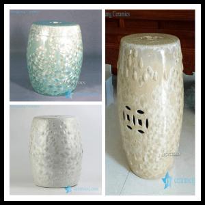 RYYX01 RYYX01-B/C Blue white yellow crystaline glaze chinaware patio stools