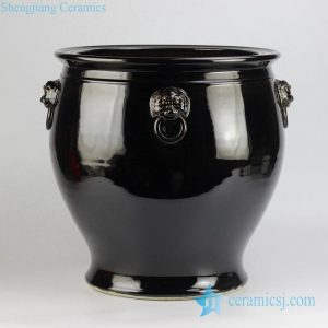 RZFH10 Lion becket solid color black china large vat