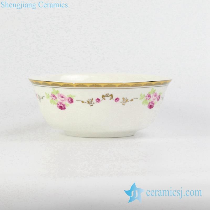 golden line bone china soup bowl