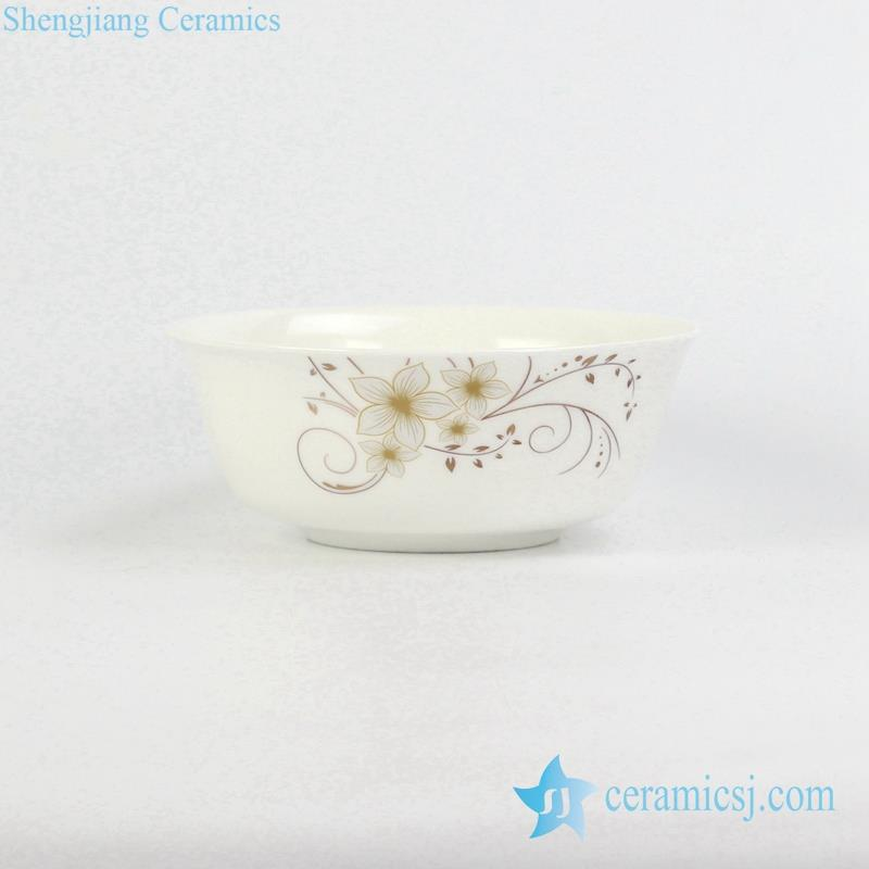 flower pattern ceramic bowl