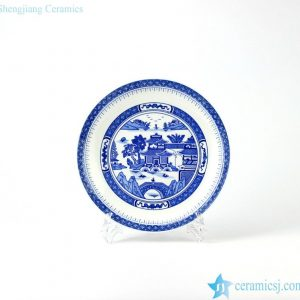 RZHX02 Blue and white china ware round dinner plate