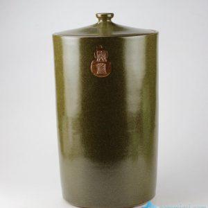 RZJK02 Plain color tea dust glaze oriental style ceramic preserve jar